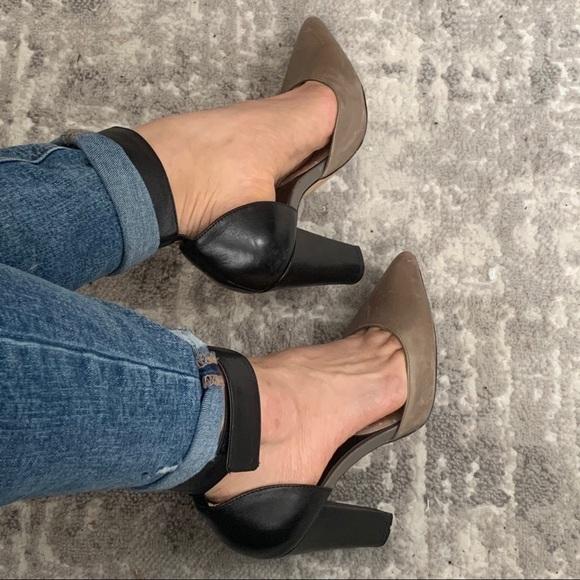 ALDO grey & black heels